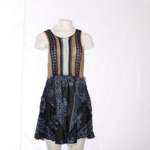Free People Blue Katies Mini Dress XS
